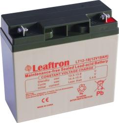 Záložní olověný akumulátor / baterie 12V 18Ah, Leaftron - životn