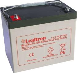 Záložní olověný akumulátor / baterie 12V 65Ah, Leaftron - životn