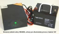 Záložní zdroj UPS pro kotle, kotelny a oběhová čerpadla, typ MX4