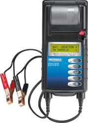 Tester profesionální s tiskárnou pro 12V autobaterie a nabíjecí