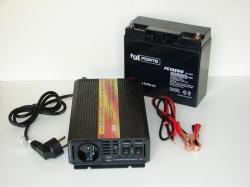 Záložní zdroj UPS pro oběhová čerpadla, model MC600N s kabely k