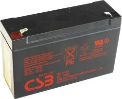 Záložní olověný akumulátor / baterie 6V 12Ah, F1, CSB