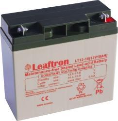 Záložní olověný akumulátor / baterie 12V 18Ah, Leaftron