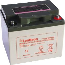 Záložní olověný akumulátor / baterie 12V 40Ah, Leaftron