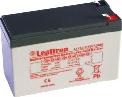 Záložní olověný akumulátor / baterie 12V 7,2Ah, Leaftron