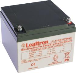 Záložní olověný akumulátor / baterie 12V 28Ah, Leaftron - životn