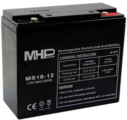 Pb 12V /  18Ah (181×77×167) M6  MHPower MS18-12