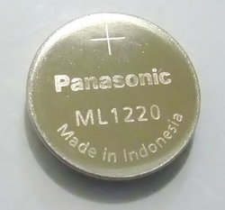 ML1220 Capacitor, watch Casio  3V  6,5mAh   12x2mm Panasonic-holý článek