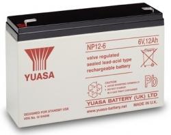 Záložní olověný akumulátor / baterie 6V 12Ah, Yuasa