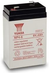Záložní olověný akumulátor / baterie 6V 4Ah, Yuasa