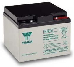 Záložní olověný akumulátor / baterie 12V 24Ah, YUASA - životnos