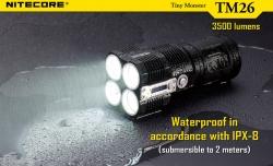 Svítilna TM26 nabíjecí 4xLED CREE XM-L(U2) 3500lm